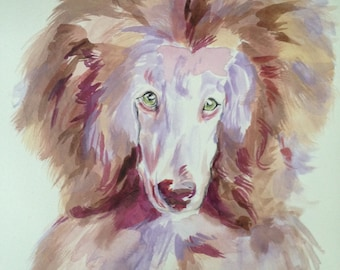 Custom dog portrait, pet portraits