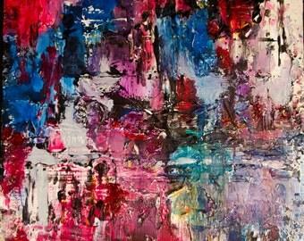 The Bridge Christian abstract art impasto texture