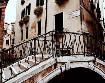 Elegant Venetian Print, Venice Italy Decor, Travel Photography