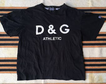 Vintage D and G (Dolce and Gabbana) Logo Basic T Shirt