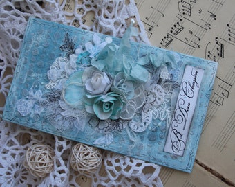 Fancy Wedding card handmade.Greeting card for special occasions.  With love in the wedding day
