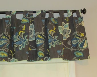 Beautiful 18-20 inch Tabbed Fully Lined Valance