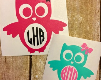 Owl Decal For Yeti Etsy - Owl custom vinyl decals for car
