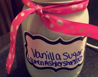Blue Vanilla Sugar Candle