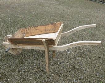 Handmade Wooden Wheelbarrow Garden Planter Made To Any Size