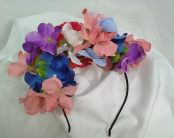 Flower headband, flamenco accessory, flamenco headband, flower color headband, lady Gift, Mother's Day, young gift