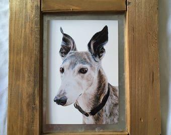 Framed Dog Painting Print