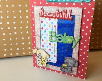 Greeting card-  craft- handmade- Hello beautiful baby