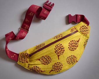Banana Bag (Yellow color with Bordeaux print)