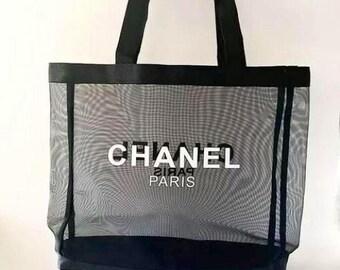 Mesh Tote Bag// CoCo Chanel Mesh Tote Gift