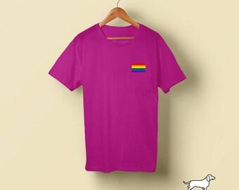Gay Pride Flag Pocket T-Shirt