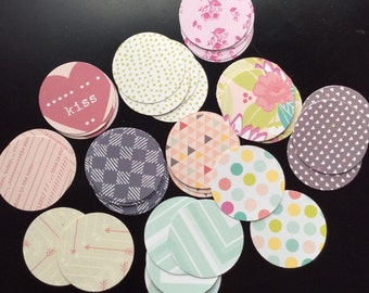 Happy Little Circles-Upcycled Ephemera Pack-28 Pieces