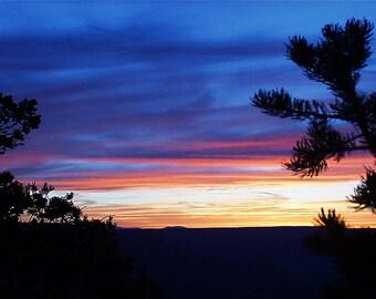 Grand Canyon Sunset, Grand Canyon National Park, Arizona, USA, - Canvas Gallery Wrap