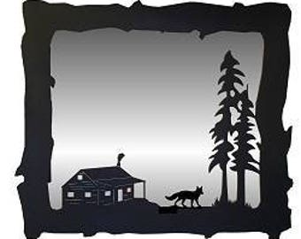 Big Horizontal Mirror - Fox and Cabin Design