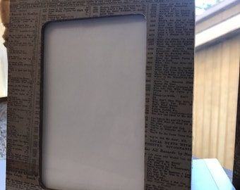 wooden Picture Frame- Newspaper style