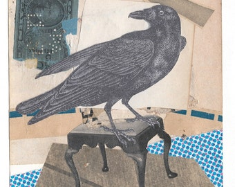 Raven and cigar stamp