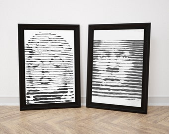 Hypnotic Line Portraits