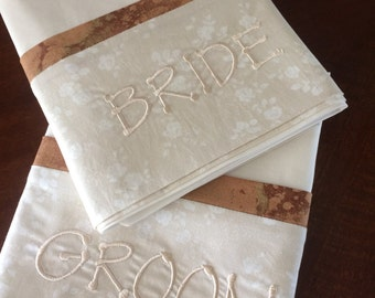 Bride and Groom pillowcases