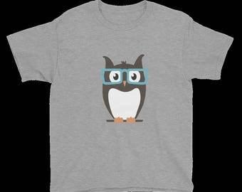 Boy's Owl With Eyeglasses T-Shirt