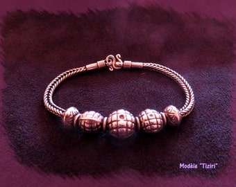 """BRACELET BERBER """"TIZIRI' massive Silver 925/1000"""