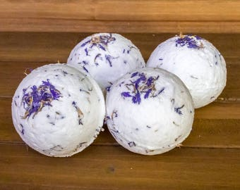 Blue Cornflower and Peppermint Bath Bomb