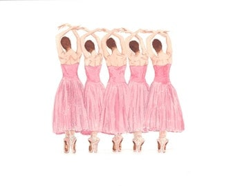 Pink Ballet - Original Watercolour Painting