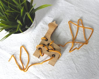 Giraffe Lacing Toy