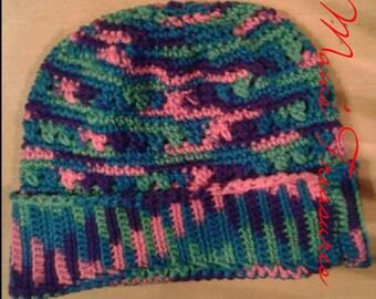 Crochet Slouchy Hat adult size