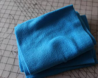 2 Two strips of lovely blue fleece fabric. Perfect for scarves. 2