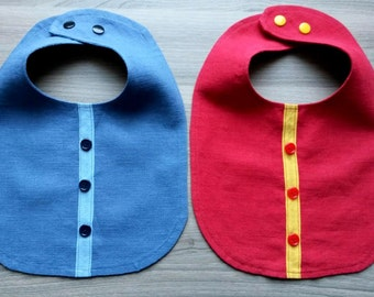 Unique 100 % linen baby bib