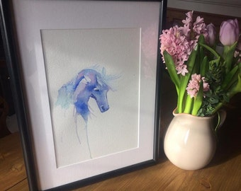 Original Watercolour Horse Painting