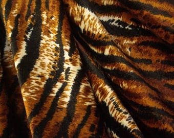 Tiger Print Stretch Velour