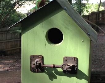 Custom made cedar birdhouse