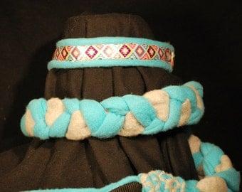 Handmade Fleece Agility Martingale Leashes