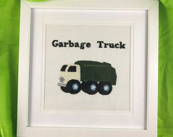 Garbage Truck, Nursery wall art, Children room decor