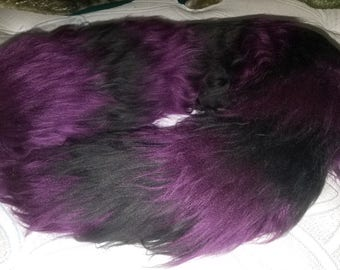 Purple/Black raccoon tail