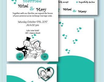 Wedding Invitation Cartoon