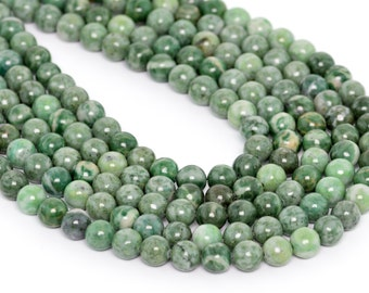 "8MM Qinghai Jade Natural Gemstone Round Shape Full Strand Loose Beads 15"" (100133-853)"