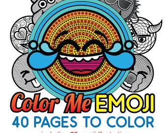 Color Me Emoji 40 Pages to Color Coloring Book