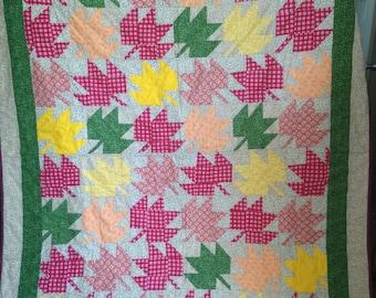 """Handmade Quilt """"Fall Leaves"""""""