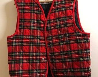 Vintage energie tartan waistcoat. Wool. #waistcoat #energie #carhartt #tartan #vintage #retro #90s