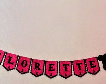Bachelorette Party Banner with Penis Accents, Pink and Black