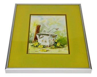 Signed Wm. Weber Watercolor Framed