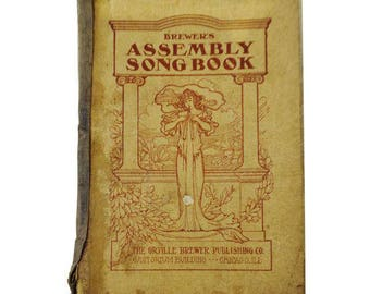 Antique 1910 Brewers Assembly Song Book Church Hymnal Christian Music