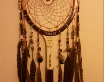 Dreamcatcher vintage tennis racket *1