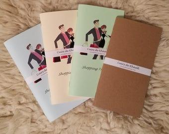 Khaalldori Traveler's Notebook (refills) Books / Shopping Tracker (Midori Format)