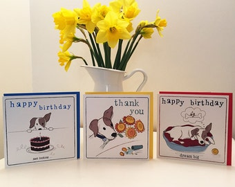 Set of 3 Greetings Cards featuring Tommy Doggy