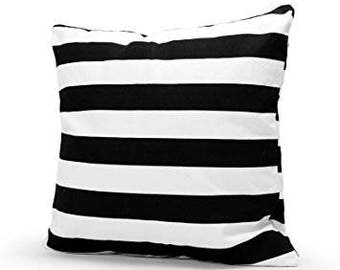 Bold Black and white, throw pillow, with insert and hidden zipper on the side
