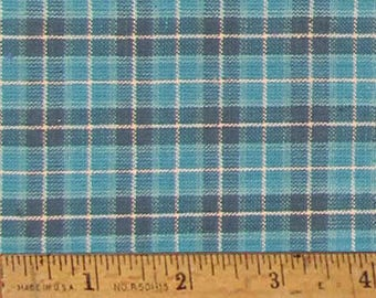 "James Blue 4 Homespun Cotton Fabric (Full Yard 36"" x 44"")"