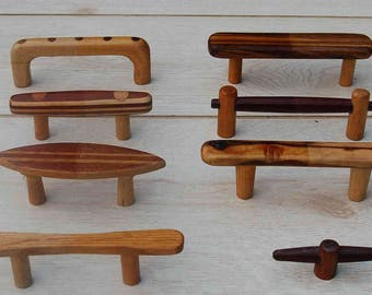 Custom Handcrafted Wood Knobs and Drawer Pulls